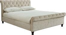 Bett 2 Personen 160 cm x 200 cm Leinen RILEY