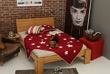 Bett 90x220cm Überlänge, Steckbett metallfrei,