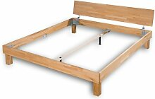 Bett ABC Buche natur, geölt, Massivholz (Buche) sehr gute Qualität - stabiles Kopfteil - Grösse 180x200