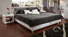 Bett Amadeo Polsterbett  140x200 cm rot, Einzelbett
