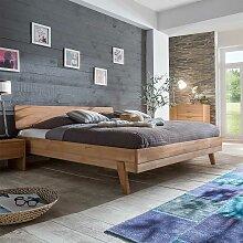 Bett aus Kernbuche massiv 180x200