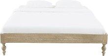 Bett aus massivem geschnitztem Mangoholz, 160x200