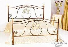Bett aus Schmiedeeisen Barock Singolo ( 85 x 195 cm) mattschwarz