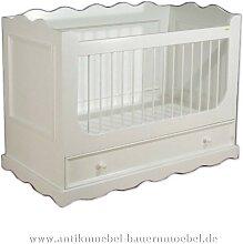 Bett Babybett Kinderbett 140x70 weiß Landhaus
