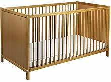 Bett - Babybett - Kinderbett inkl. Matratze mit Farbauswahl (Buche)