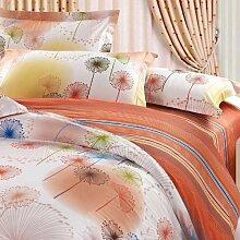 Bett Baumwolle Vierstück Baumwoll-Bettwäsche Baumwolle sorgen für eine vierköpfige Familie, hautfreundliche Textil anwendbar 1,5 m /1.8 m Bett Bettwäsche Bettwäsche-Sets von vier