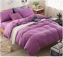 Bett Baumwolle Vierstück Denim Mode einfachen Normallackbaumwollsteppdecke Bettwäsche Bettwäsche Kissen- vierköpfige Familie Bettwäsche-Sets von vier ( größe : 1.8m Bed )