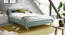 Bett Bela Polsterbett  120x200 cm blau, Einzelbett