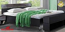 Bett Doppelbett lava Kopfteil mit betonfarbiger Absetzung 806556 140x200cm