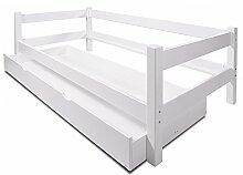 Bett Einzelbett mit Bettkasten 90 x 200 Kiefer