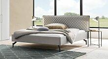 Bett Esko Polsterbett  140x200 cm grau, Einzelbett