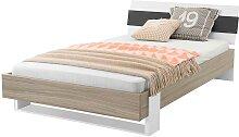 Bett für Jugendzimmer Buche Anthrazit