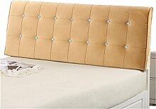 Bett große Kissen abnehmbare und waschbare Doppelbett Back Kissen Lendenwirbelstütze Bedside Rückenlehne, gelb ( größe : 150*60cm )