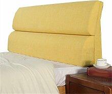 Bett große Kissen abnehmbare und waschbare Doppelbett Back Kissen Lendenwirbelstütze Bedside Rückenlehne, gelb ( größe : 203*55cm )