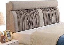 Bett große Kissen abnehmbare und waschbare Doppelbett zurück Kissen Lendenwirbelstütze Bedside Rückenlehne, grau ( größe : 180*60cm )
