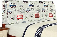 Bett große Kissen abnehmbare und waschbare Doppelbett zurück Kissen Lendenwirbelstütze Bedside Rückenlehne, Cartoon ( größe : 155*55cm )