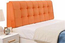 Bett große Kissen abnehmbare und waschbare Doppelbett zurück Kissen Lendenwirbelstütze Bedside Rückenlehne, orange ( größe : 190*58cm )