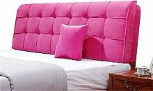 Bett große Kissen abnehmbare und waschbare Doppelbett zurück Kissen Lendenwirbelstütze Bedside Rückenlehne, rosa ( größe : 120*58cm )