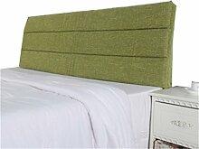 Bett große Kissen abnehmbare und waschbare Doppelbett zurück Kissen Lendenwirbelstütze Bedside Rückenlehne, grün ( größe : 180*60cm )