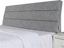 Bett große Kissen abnehmbare und waschbare Doppelbett zurück Kissen Lendenwirbelstütze Bedside Rückenlehne, grau ( größe : 180*50cm )