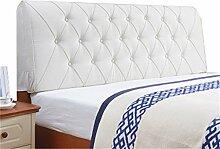 Bett große Kissen abnehmbare und waschbare Doppelbett zurück Kissen Lendenwirbelstütze Bedside Rückenlehne, weiß ( größe : 180*60cm )