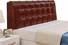 Bett große Kissen abnehmbare und waschbare Doppelbett zurück Kissen Lendenwirbelstütze Bedside Rückenlehne, braun ( größe : 200*58cm )