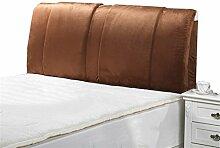 Bett große Kissen abnehmbare und waschbare Doppelbett zurück Kissen Lendenwirbelstütze Bedside Rückenlehne, braun ( größe : 190*60cm )