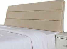 Bett große Kissen abnehmbare und waschbare Doppelbett zurück Kissen Lendenwirbelstütze Bedside Rückenlehne, Beige ( größe : 150*60cm )