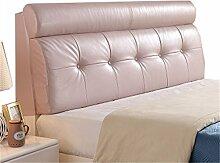 Bett große Kissen abnehmbare und waschbare Doppelbett zurück Kissen Lendenwirbelstütze Bedside Rückenlehne, rosa ( größe : 160*58cm )
