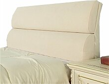 Bett große Kissen abnehmbare und waschbare Doppelbett zurück Kissen Lendenwirbelstütze Bedside Rückenlehne, Beige ( größe : 203*55cm )