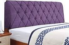 Bett große Kissen abnehmbare und waschbare Doppelbett zurück Kissen Lendenwirbelstütze Bedside Rückenlehne, lila ( größe : 150*60cm )