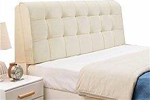 Bett große Kissen abnehmbare und waschbare Doppelbett zurück Kissen Lendenwirbelstütze Bedside Rückenlehne, weiß ( größe : 150*58cm )