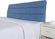 Bett große Kissen abnehmbare und waschbare Doppelbett zurück Kissen Lendenwirbelstütze Bedside Rückenlehne, blau ( größe : 150*60cm )