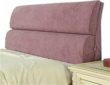 Bett große Kissen abnehmbare und waschbare Doppelbett zurück Kissen Lendenwirbelstütze Bedside Rückenlehne, lila ( größe : 183*55cm )