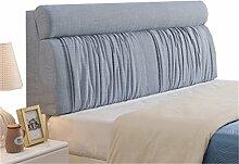 Bett große Kissen abnehmbare und waschbare Doppelbett zurück Kissen Lendenwirbelstütze Bedside Rückenlehne, blau ( größe : 180*60cm )