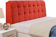 Bett große Kissen abnehmbare und waschbare Doppelbett zurück Kissen Lendenwirbelstütze Bedside Rückenlehne, rot ( größe : 150*58cm )
