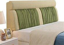 Bett große Kissen abnehmbare und waschbare Doppelbett zurück Kissen Lendenwirbelstütze Bedside Rückenlehne, grün ( größe : 150*60cm )