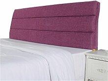 Bett große Kissen abnehmbare und waschbare Doppelbett zurück Kissen Lendenwirbelstütze Bedside Rückenlehne, lila ( größe : 200*60cm )