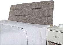 Bett große Kissen abnehmbare und waschbare Doppelbett zurück Kissen Lendenwirbelstütze Bedside Rückenlehne, grau ( größe : 200*60cm )