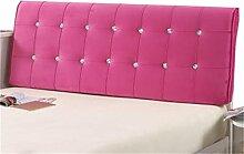 Bett große Kissen abnehmbare und waschbare Doppelbett zurück Kissen Lendenwirbelstütze Bedside Rückenlehne, rosa ( größe : 180*60cm )