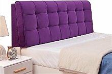 Bett große Kissen abnehmbare und waschbare Doppelbett zurück Kissen Lendenwirbelstütze Bedside Rückenlehne, lila ( größe : 200*58cm )