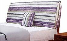 Bett große Kissen abnehmbare und waschbare Doppelbett zurück Kissen Lendenwirbelstütze Bedside Rückenlehne, Streifen ( größe : 180*55cm )