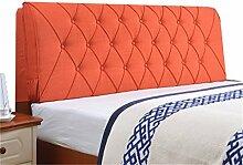 Bett große Kissen abnehmbare und waschbare Doppelbett zurück Kissen Lendenwirbelstütze Bedside Rückenlehne, orange ( größe : 120*60cm )