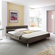 Bett in Braun modern