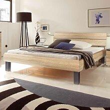 Bett in Eiche Sägerau modern