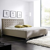 Bett in Schlammfarben Kunstleder