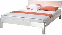 Bett in Weiß Hochglanz online kaufen Breite 146 cm Liegefläche 140x200 Pharao24