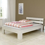 Bett in Weiß Kernbuche massiv