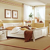 Bett in Weiß Weiß lackiert