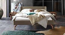 Bett Jacalto Polsterbett  200x220 cm braun